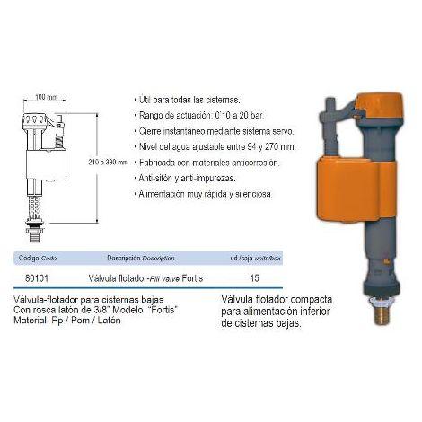 MIBRICOTIENDA prhie valvula flotador inferior cisterna baja fortis 80101