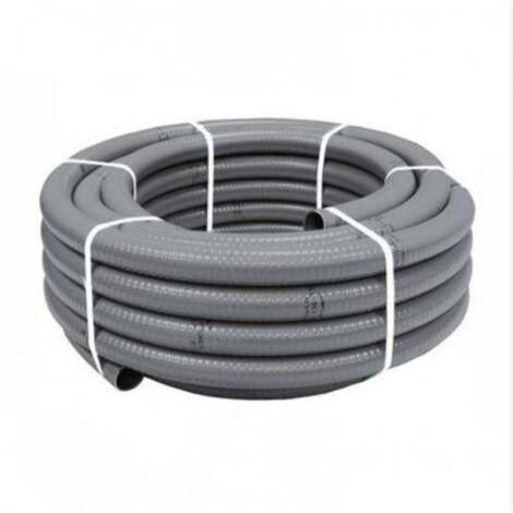 MIBRICOTIENDA pvc tuberias flexible gris hidroflex 50 mm en rollos 25m 1153