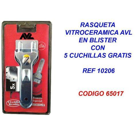 MIBRICOTIENDA rasqueta vitroceramica avl+5 cuchillas gratis blister 10206