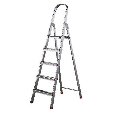 MIBRICOTIENDA rolser escaleras aluminio domestica plus 5 peld dop003 en131