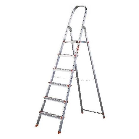 MIBRICOTIENDA rolser escaleras aluminio domestica plus 6 peld dop004 en131
