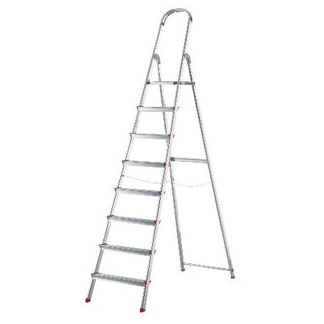 MIBRICOTIENDA rolser escaleras aluminio domestica plus 8 peld dop006 en131