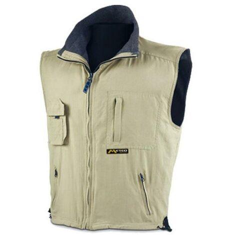 MIBRICOTIENDA ropa abrigo chaleco nautico beige l 288vpm int.forro polar