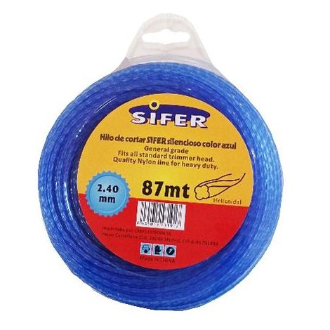 MIBRICOTIENDA sifer hilo desbrozadora azul silencio.helico.2.4mmx87 m 48222052