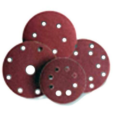 MIBRICOTIENDA sifer lija disco velcro 25 undx125 8 agujeros gr-120