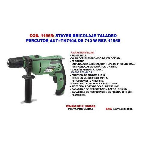 MIBRICOTIENDA stayer bricolaje taladro percutor aut th710a de 710w 11966