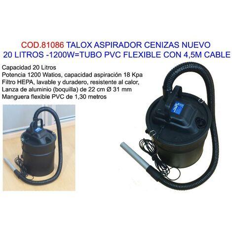 MIBRICOTIENDA talox aspirador cenizas 20l-1200w tubo flexib+4,5m cable vc2014