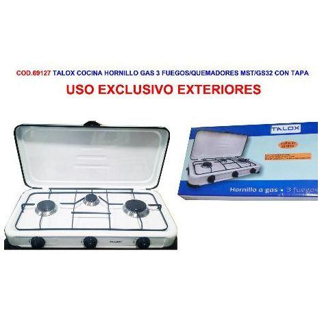 "main image of ""MIBRICOTIENDA talox cocina hornillo gas 3 fuegos mst-gs32 con tapa"""