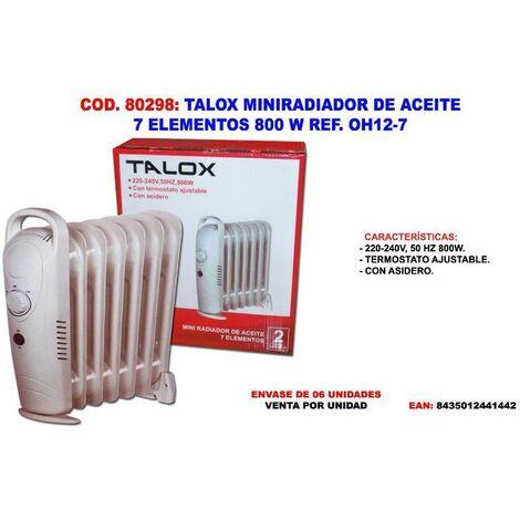 MIBRICOTIENDA talox miniradiador de aceite 7 elementos 38 cm 800 w oh12-7