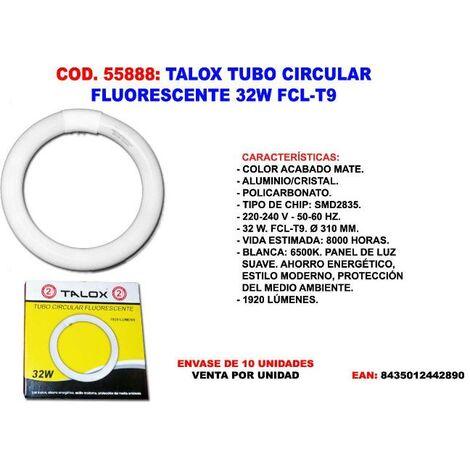 MIBRICOTIENDA talox tubo circular fluorescente 32 w fcl-t9 1920 lumenes