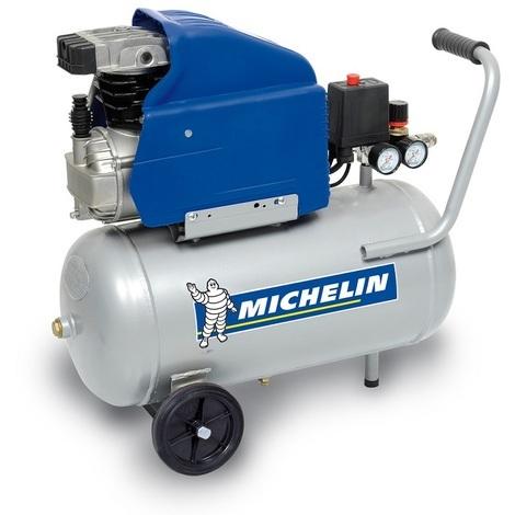 Michelin - Compresseur 24 litres 2 CV 8 bars Coaxial huile - MB24