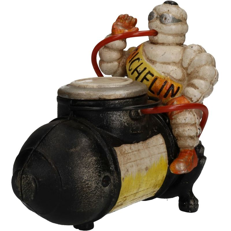Big Michelin Man Mascot Bibendum Tyres Cast Iron Statue Figure Garden Garage