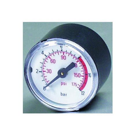 MICHELIN Manomètre diamètre 40 1/8 Mâle 10 Bars pour compresseur d'air