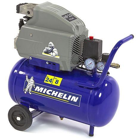 MICHELIN MB24 - Compresor de aire 24 litros, 10 bares