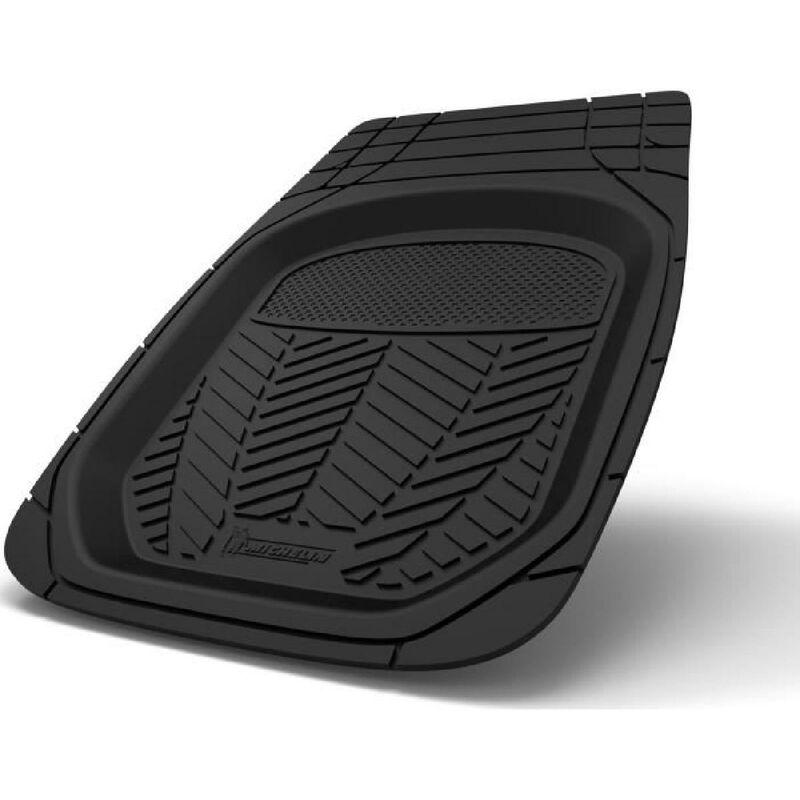 Tapis auto caoutchouc bac 3D 2 pieces Noir - Michelin