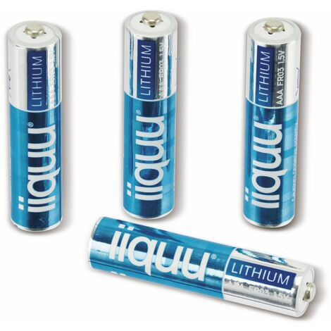 Micro-Batterie, GPBatteries, IIQUU, Lithium, FR03, 4 Stück
