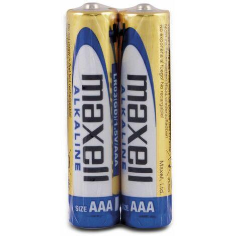 Micro-Batterie MAXELL, Alkaline, AAA, LR03, 2 Stück