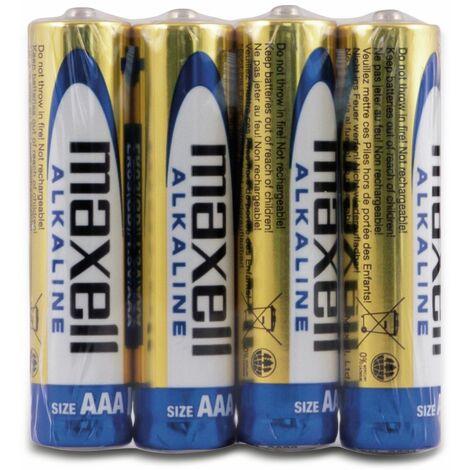 Micro-Batterie MAXELL, Alkaline. AAA, LR03, 4 Stück