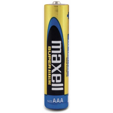 Micro-Batterie MAXELL, Super Alkaline, AAA, LR03, 4 Stück