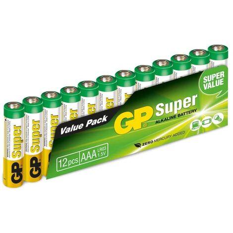 Micro-Batterie-Set GP Super Alkaline, 12 Stück