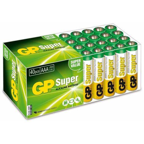Micro-Batterie-Set GP SUPER Alkaline 40 Stück