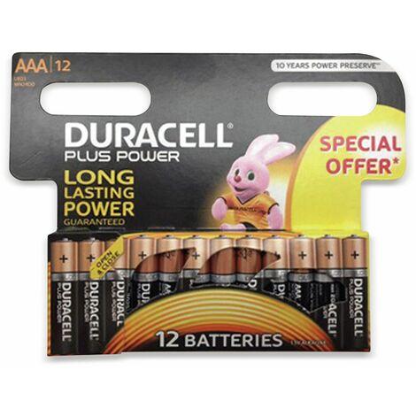 Micro-Batterien DURACELL PLUS POWER, 12 Stück