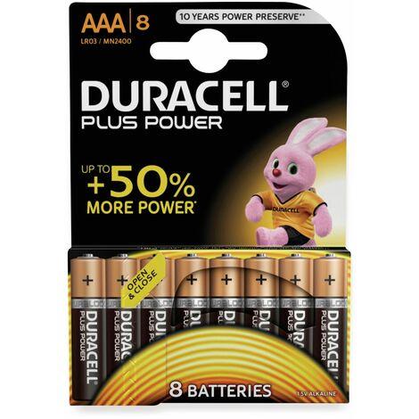 Micro-Batterien DURACELL PLUS POWER, 8 Stück
