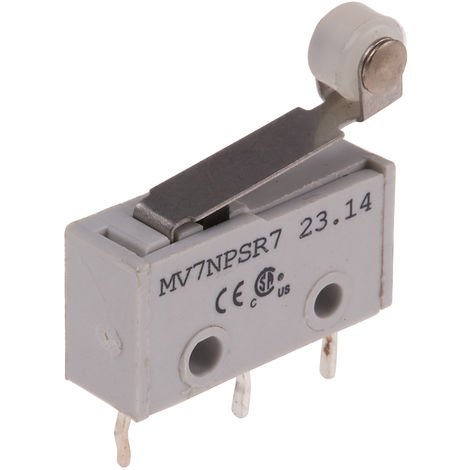 Micro commutateur subminiature à Levier à galet, SP, 2 A @ 250 V c.a. 250V ac