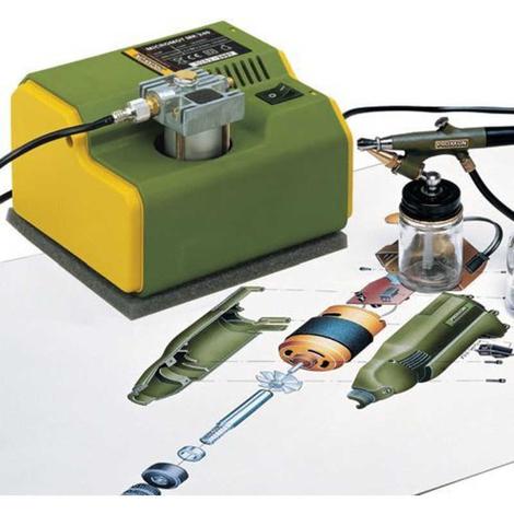 Micro compresor MK 240 con pistola AB 100 Proxxon