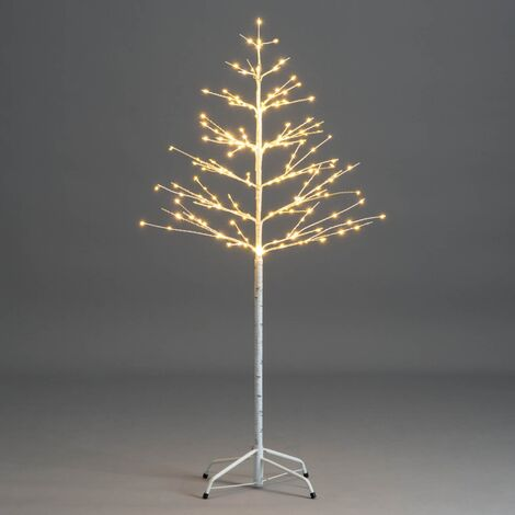 Micro LED Birch Tree Pre Lit Christmas Twig Light Decoration Indoor Outdoor - 4ft / 160 LEDs