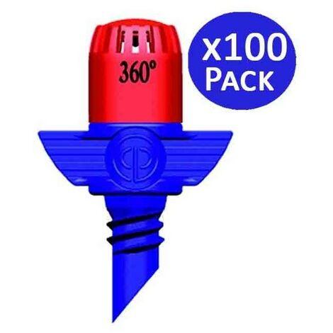 Microaspersor de riego 360º 2,3-3 mts. 100 unidades