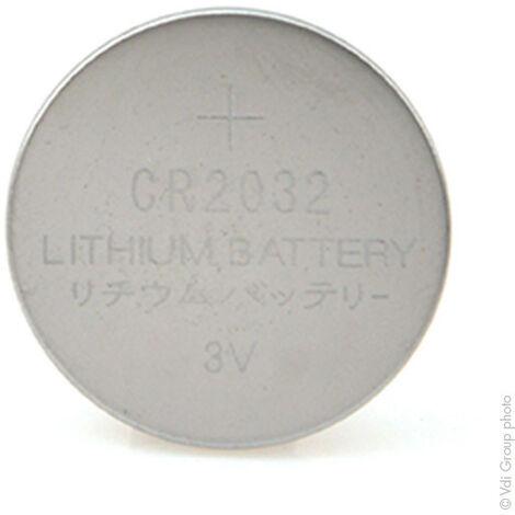 Microbatt - Pile bouton lithium blister CR2032 3V 225mAh