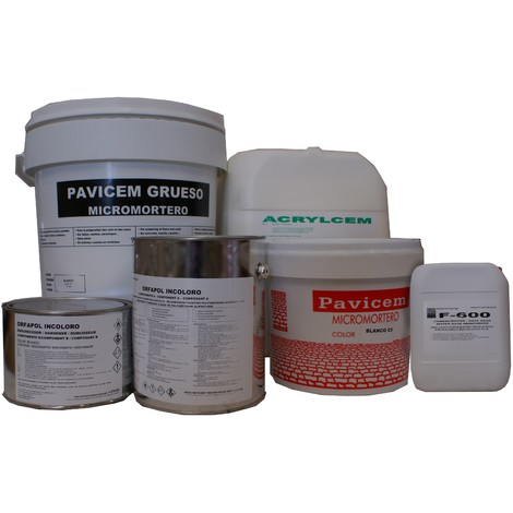 Microcemento-Kit Microcemento de 8 m2 - Duchas y Piscinas