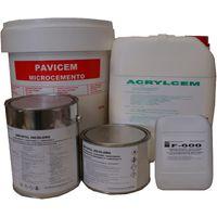 Microcemento-Kit2 de 15 m2 - Sin base-Blanco ,Resina mate al agua