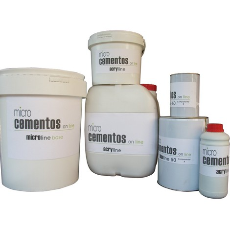 Microcemento-Kit4 de 60 m2 - Con base-