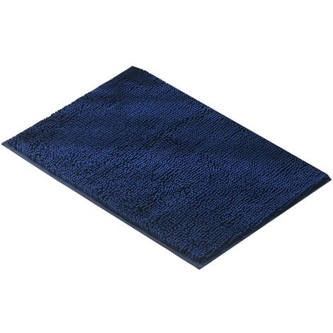 "Microfiber Bath Rugs Chenille Plush Floor Mat Anti-slip Machine-Washable, 20""*32"", 1pc,Dark blue"