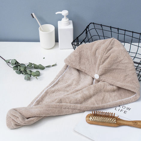 Microfiber Bath Towel Wrap Coffee