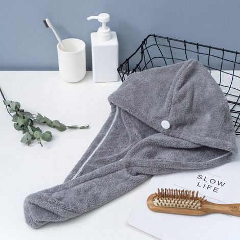 Microfiber Bath Towel Wrap gray
