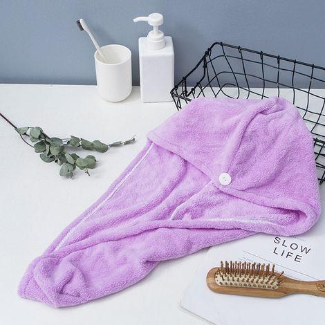 Microfiber Bath Towel Wrap Purple