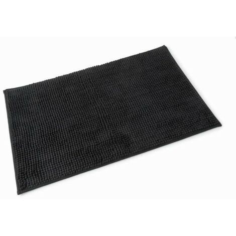 Microfibre Bath Mat Black 500mm x 800mm