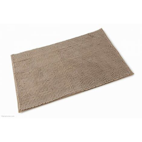 Microfibre Bath Mat Walnut 500mm x 800mm