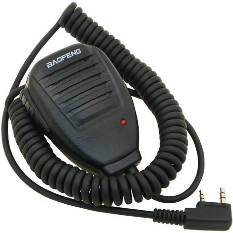 Microfono-altavoz para Walkie Talkie Baofeng UV-5R Negro