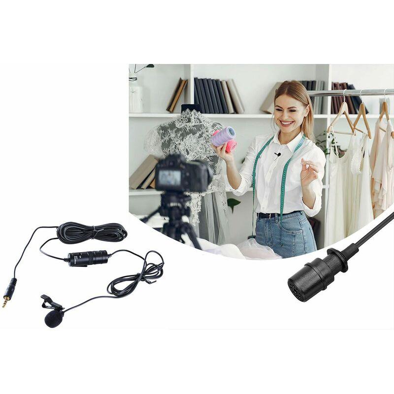 Microfono registrazione professionale smartphone 3,5 mm clip 2m bavero LD-9200