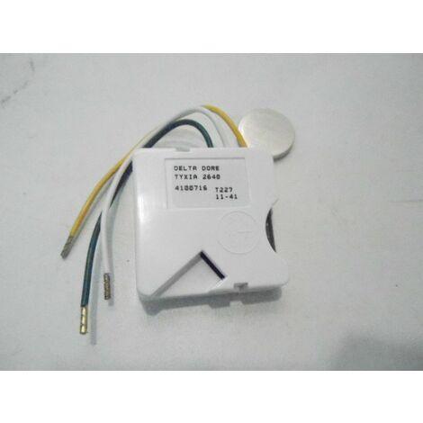 Micromodule émetteur encastré sans fil pour inter double poussoir 1 voie variation d'éclairage TYXIA 2640 DELTA DORE 6351094