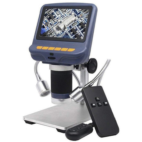 Microscopio de escritorio, microscopio digital USB de aumento 220X, 4.3 pulgadas