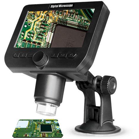 Microscopio inalambrico, 2.0MP, 4.3 pulgadas, con 8 luces LED