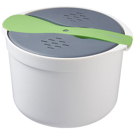 Microwave Rice Cooker Microwave Rice Steamer Bowl Cooker Tools Kitchen Utensils green
