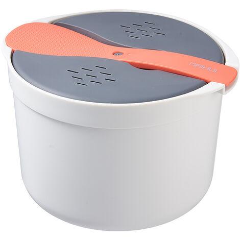 Microwave Rice Cooker Microwave Rice Steamer Bowl Cooker Tools Kitchen Utensils orange