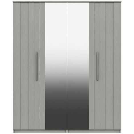Midas Four Door Mirror Wardrobe
