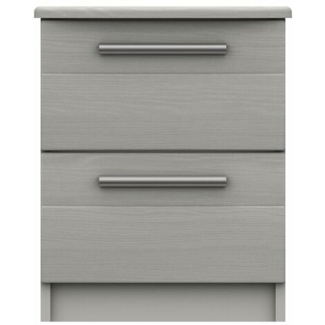 Midas Two Drawer Bedside Table